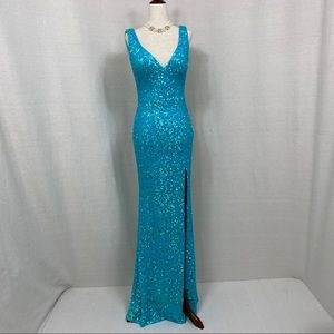 La Femme Sequined Dress
